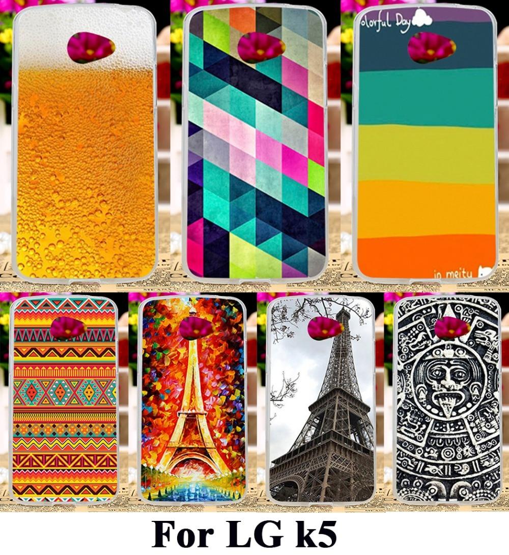 Diy plástico duro cajas del teléfono móvil para lg k5 x220 q6 5 ''Contraportadas