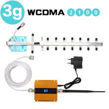 65dB Repeater 3G WCDMA Signal Booster 3G UMTS 2100 Handy Cellular Signal Repeater Verstärker 3G Amplifi Antenne LCD Display