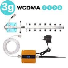 65dB Repeater 3G WCDMA wzmacniacz sygnału 3G UMTS 2100 mobilny wzmacniacz sygnału komórkowego wzmacniacz 3G antena wyświetlacz LCD