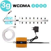 65dB 3G 3G UMTS WCDMA Reforço de Sinal Repetidor 2100 3G Amplificação Antena Celular Amplificador De Sinal Celular Repetidor display LCD