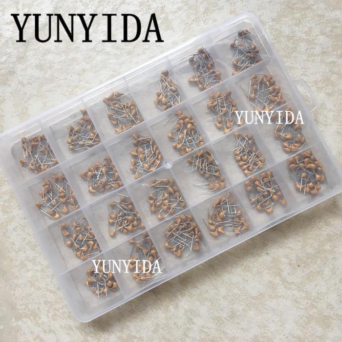 24values*20pcs =480pcs Monolithic Ceramic Capacitor 10pF~10uF,ceramic capacitor Assorted Kit + BOX