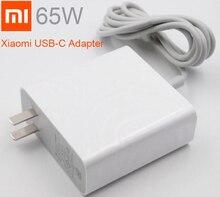 الأصلي شياو mi mi USB C شاحن 65 واط الناتج معدل المقبس محول الطاقة نوع C ميناء USB PD 2.0 تهمة سريعة QC 3.0 نوع C محمول