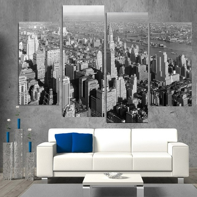 Cuadros Decoracion Wall Art 4 Pieces And New York City Modern Home Decor Canvas Picture