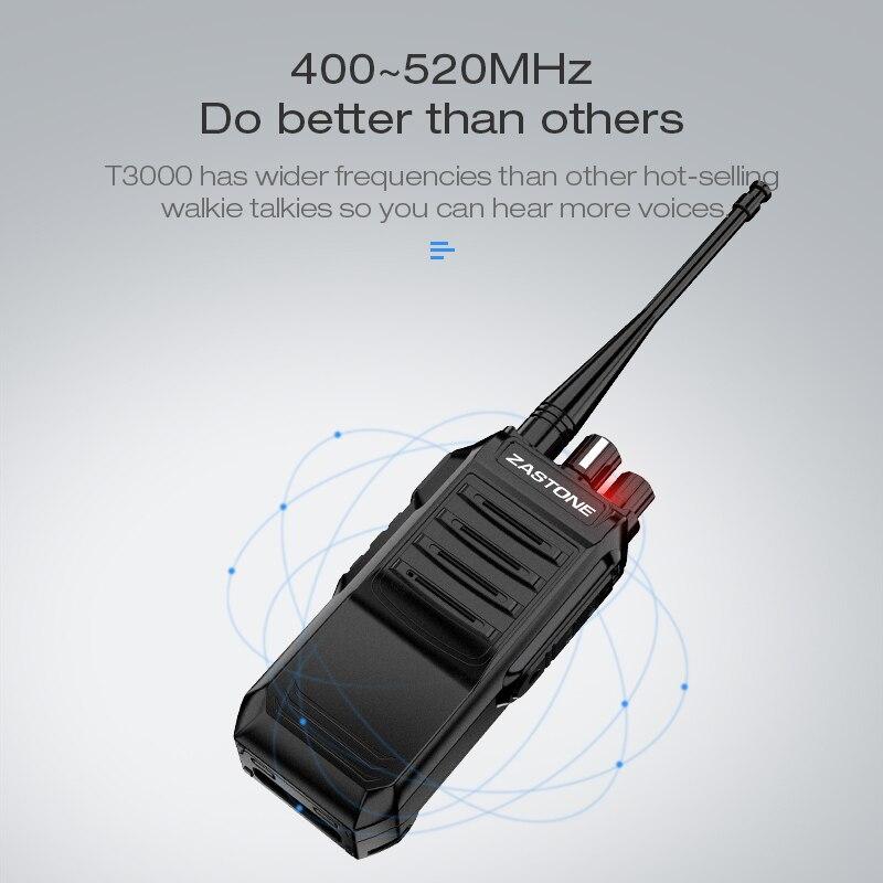 Zastone T3000 walkie talkie 400-520mhz UHF HF Transceiver Ham CB Radio 6W