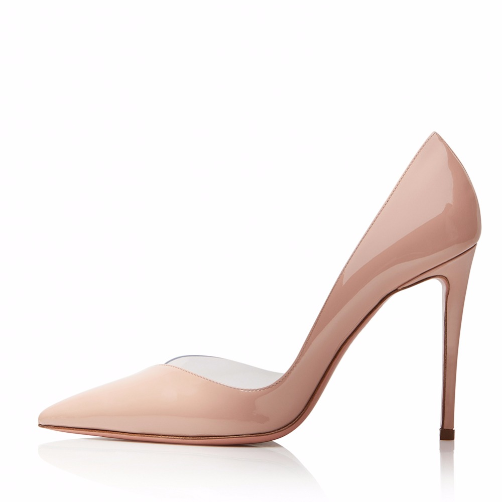 Talons 2018 De Femmes 46 Cuir Plates Verni En Hauts Grande Transparent Aiguilles Mariage Populaire Pompes nude Taille Sexy Silvery Chaussures Chaude AqnxrwnOt