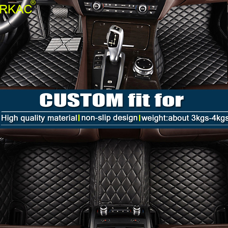 All Weather Floor Mats Custom Fit for Range Rover 2007-2012 4 Seats No Lengthen Heavy Duty Floor Protection Non Slip Leather Front+Rear 4 Pieces Beige