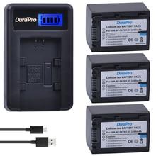 3pc NP-FV70 NP FV70 2500mAH 7.2V Li-ion Battery & LCD USB Charger for Sony NP-FV50 FV30 HDR-CX230 HDR-CX150E HDR-CX170 CX300 Z1