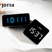 Hd mirror alarm clock multi-function digital mute LED cosmetic