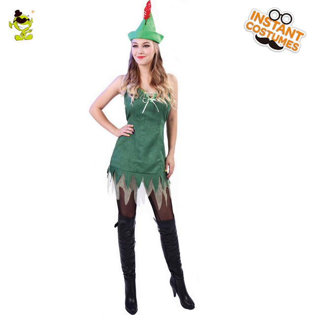 Adult Woman Robin Hood Costumes Women Cosplay Fancy Dress for Carnival  Party Role Play Dress-up Cool Bandit Hero Women Costume e478cf862