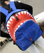 Newlylai Мода милый мультфильм холст женщины рюкзак школы сумка для ноутбука девочки Акула путешествия Mochila XX170026