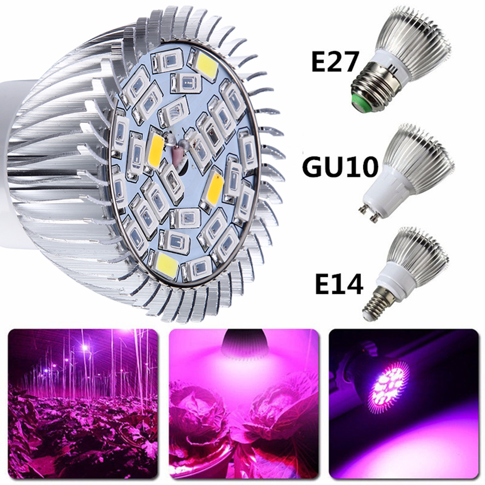 4X Full Spectrum LED Grow Light Lamp E27 GU10 E14 28 SMD Led Grow Bulb For Hydroponics Flowers Plants Vegetables Grow Box
