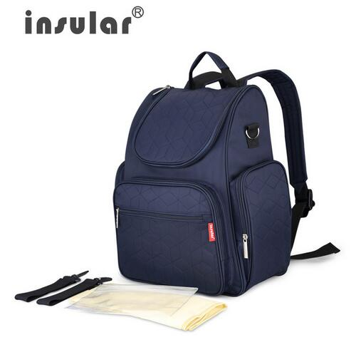 INSULAR Fashion baby bag Multifunction Mummy Bag for stroller Large Capacity baby diaper bags Nappy Bags Baby diaper Backpack