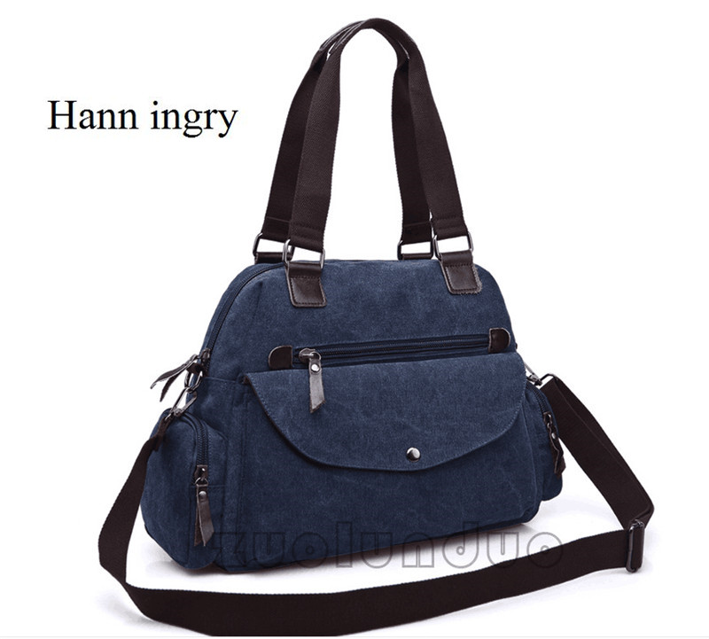 And Women's Package Korean  Bag, Trend, Pure Color Canvas, Ladies' Shoulder Canvas Bag H84D