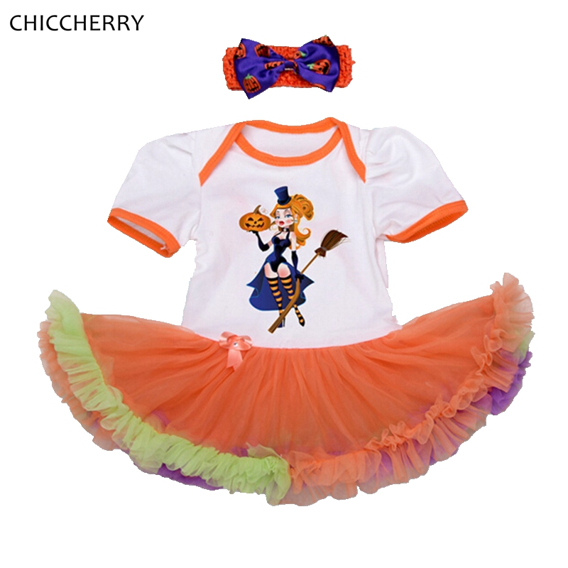 the little witches baby halloween costumes lace petti rompers tutu dress headband girls clothing sets conjunto infantil menina