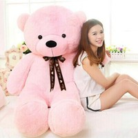 80cm Lovely Stuffed Teddy Bear Plush Toy Big Embrace Full Bear With Filling Children Doll Girls Gifts Lover Birthday gift