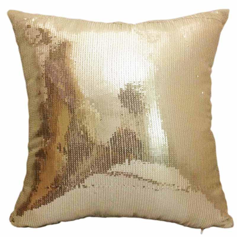 Декоративная наволочка с блестками и вышивкой, декоративная подушка, подушка с вышивкой
