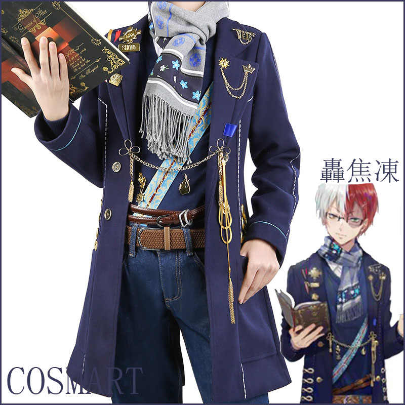 Stock Anime Boku No My Hero Academia Figure Todoroki Shouto Fanart Magazine Fashion Daily Wear Full Set New 2018 Free Ship