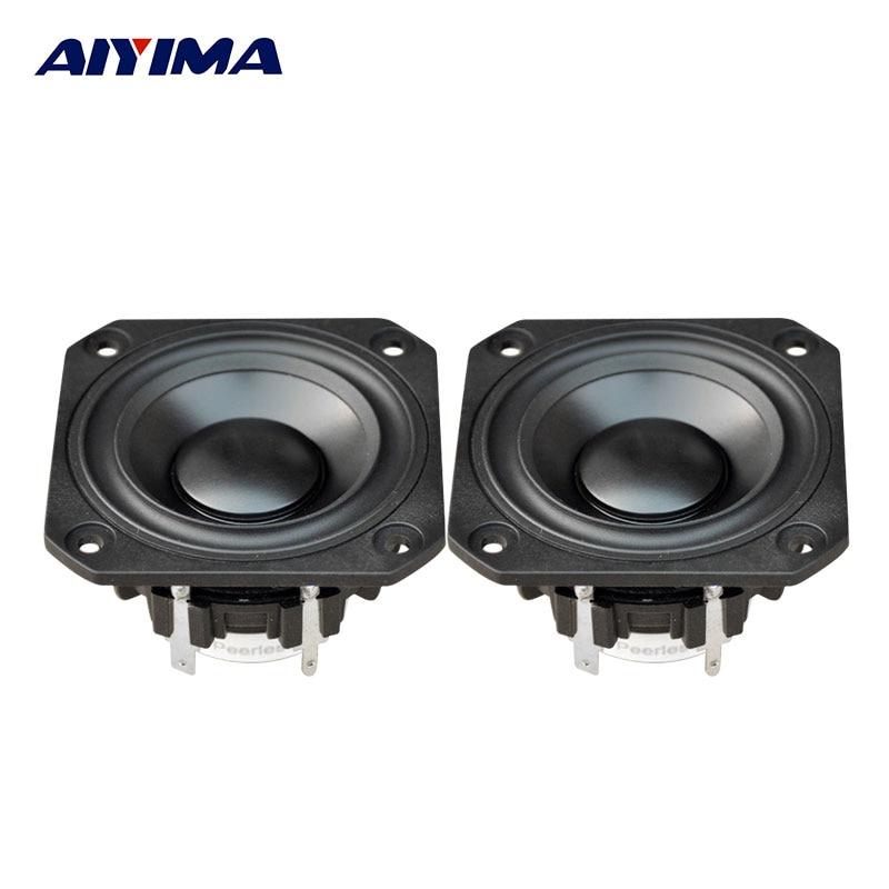 AIYIMA 2Pcs 2.5Inch Audio Portable <font><b>Speakers</b></font> P830985 4Ohm 30W Full Range Fever Neodymium Cobalt Magnetic <font><b>Speaker</b></font>