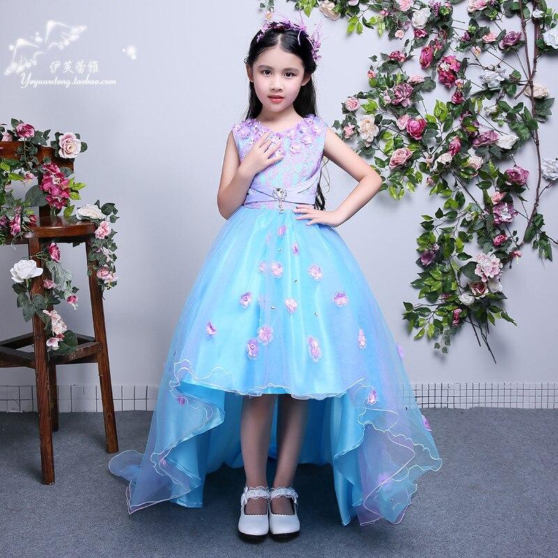 Girls Long Maxi Dress Wedding Flower Tutu Dress Kids Fancy Party Christmas Elegant Girl Ball Gown 6 9 10 11 12 13 14 Years Old