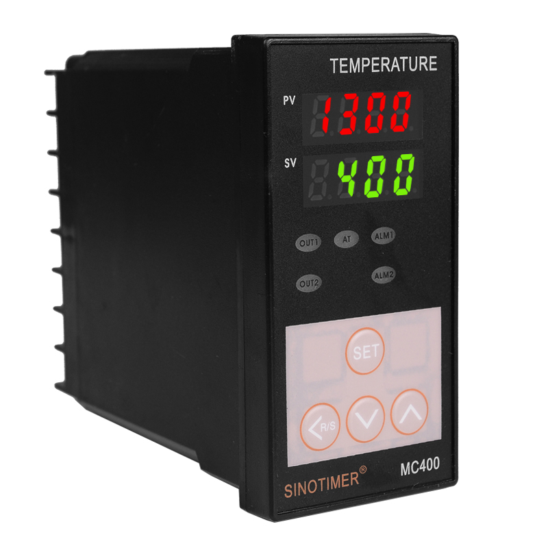 Universal Relay Output K Thermocouple or PT100 Input Digital PID Temperature Controller for Heating or Cooling with Alarm MC400