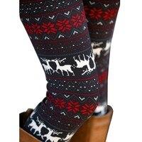 2016 Hot Womens Autumn Winter Warm Leggings Fashion Christmas Printed High Elastic Skinny Leggings Slim Pencil