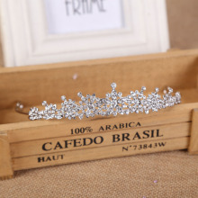 Factory Sparkling Silver Big Wedding Diamante Pageant Tiaras Hairband Crystal Bridal Crowns For Brides Hair Jewelry Headpiece все цены