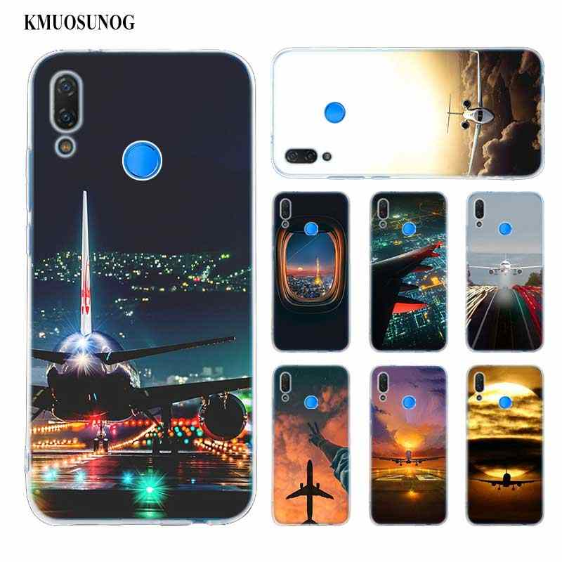 Hot Aircraft plane airplane aeroplane Soft Silicone Phone Case for Huawei P Smart Plus 2019 P30 P20 P10 P9 P8 Pro Lite 2017 Mini