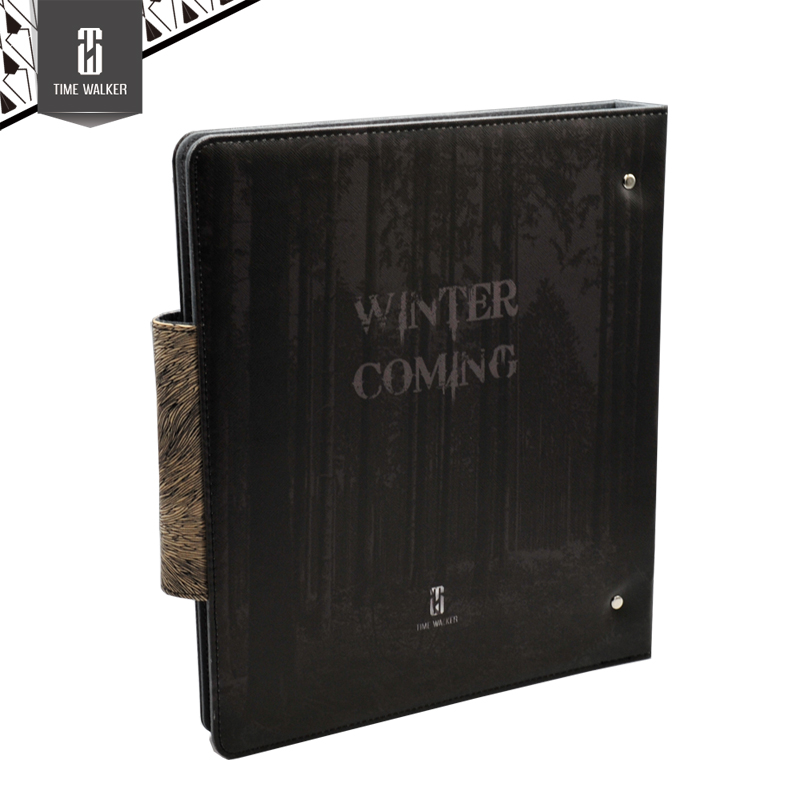 Time Walker Winter is Coming Cards Album Storage Album for 9 Pockets Pages Card Games Name Cards Album for MGT/YU-GI-OH/PokeTCG