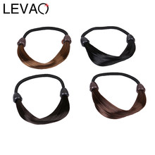 LEVAO Women Solid Color Wig Scrunchies Hair Accessories Hair Tie Rubber Band Ponytail Hair Female Girl Holder Rope Hair Headwear(China)