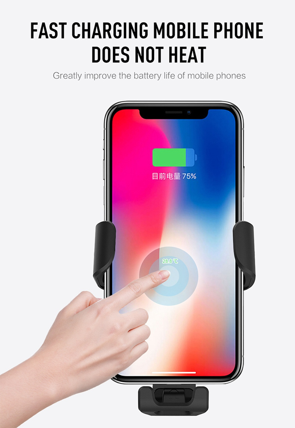 HTB1iudJLAPoK1RjSZKbq6x1IXXap KISSCASE Gravity Car Wireless Charger For iPhone 8 Plus XR XS Max X Qi Fast Wireless Car Charger For Samsung Galaxy S10 Plus S10