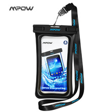 Mpow IPX8 waterproof Case Bag Universal Mobile Phone Floatable Pouch Swim Case Take photo UnderWater For iPhone Sumsung Huawei
