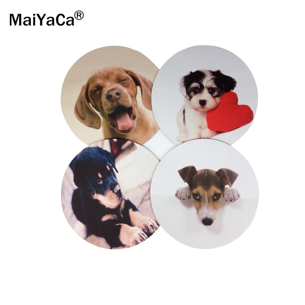 MaiYaCa Cute Rottweiler Šuniukas mielas šuo Round 200 * 200 * 2mm Pelės kilimėlis Kompiuterio kompiuteris Nešiojamas komfortas Žaidimų pelės