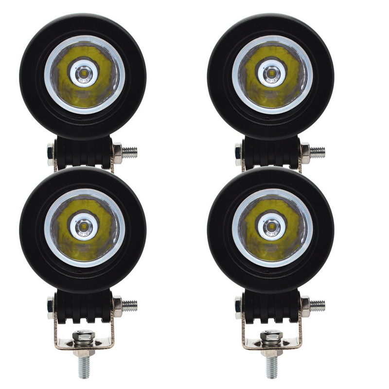 Safego 4pcs 10W 4X4 <font><b>Led</b></font> Work <font><b>Light</b></font> 12V Tractor <font><b>Offroad</b></font> Spot Flood Beam <font><b>Car</b></font> ATV Motorcycle Work <font><b>Light</b></font> Fog Lamps Off Road 6000K image
