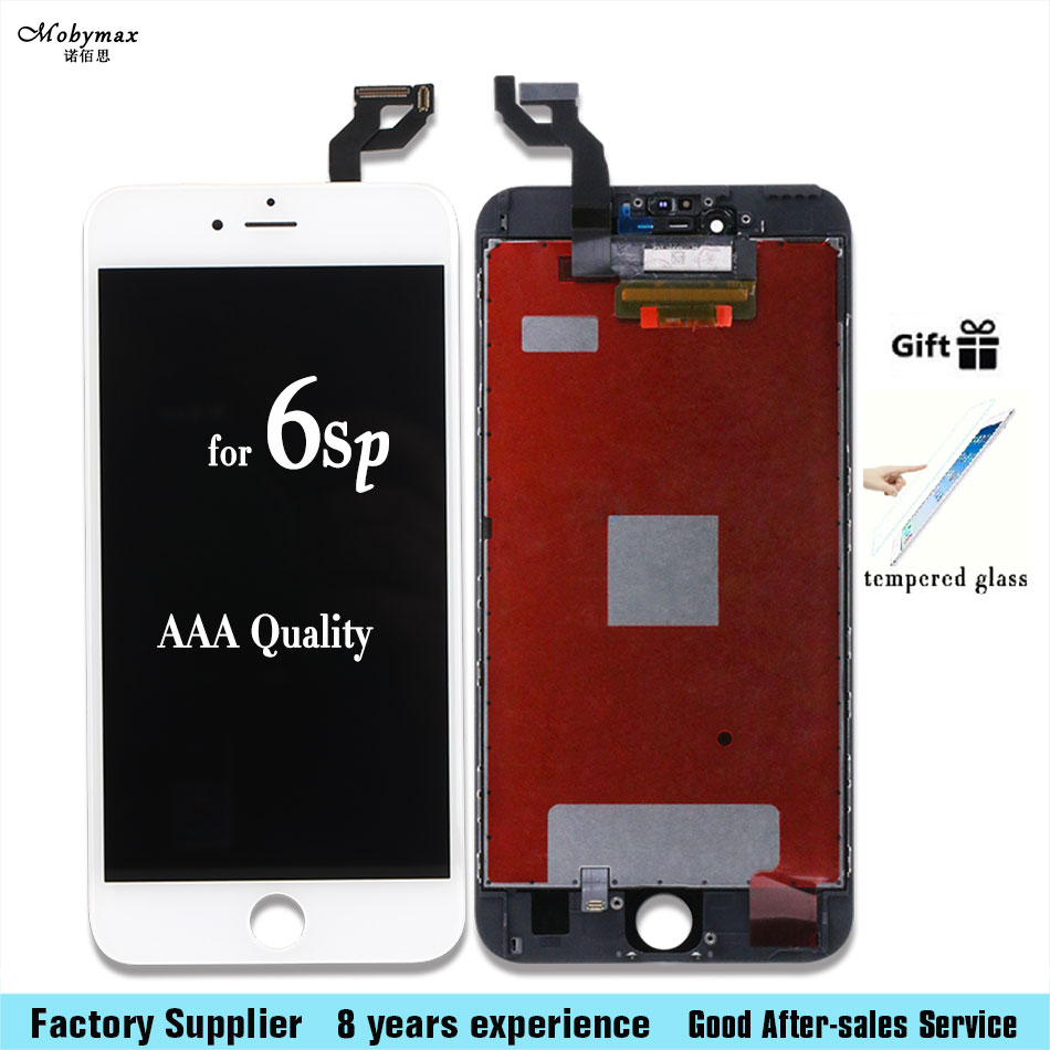 For iPhone 6s plus LCD Display Module Touch Screen Digitizer Replacement Phone Parts Lcd Screen Assembly+Tempered film