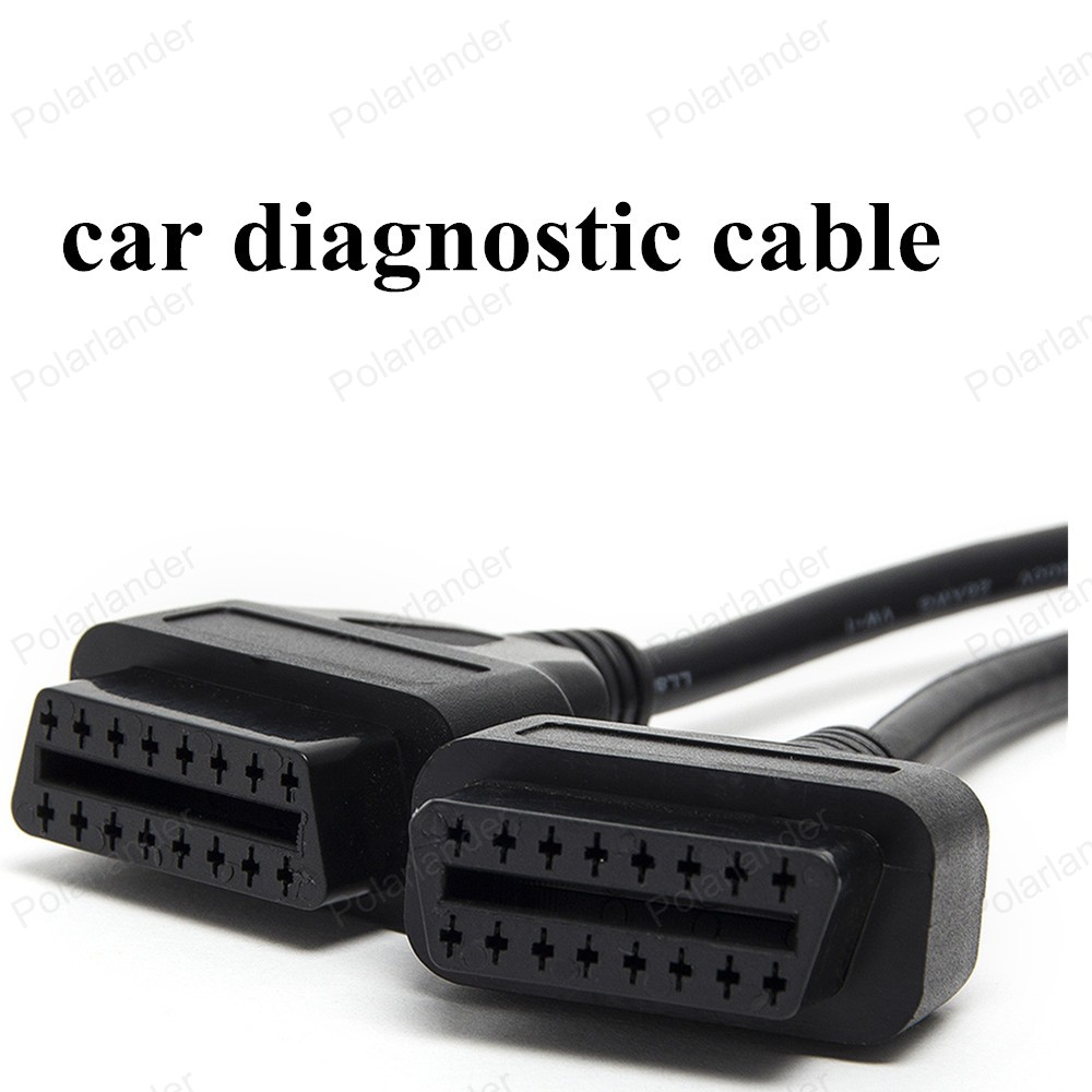 hot sell OBD II 16 Pin Splitter Adapter Extension Cable Male to Dual Female  Y Connector Car Diagnostic Cable