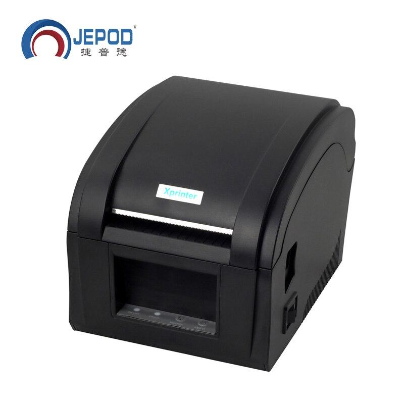 XP-360B 1 pçs/lote impressora de etiquetas de código de barras térmica impressora de etiquetas 20mm a 80 milímetros térmica impressora de código de barras