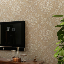 купить Modern European Style Floral Wall Papers Home Decor 3D Embossed Damask Wallpaper Roll Bedroom Living Room Sofa TV Background по цене 1186.69 рублей