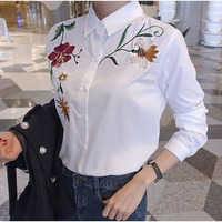 Embroidery Blouse Long Sleeve Shirt Women Blouses Shirts Ladies Tops Blusas Mujer De Moda 2017 Camisa