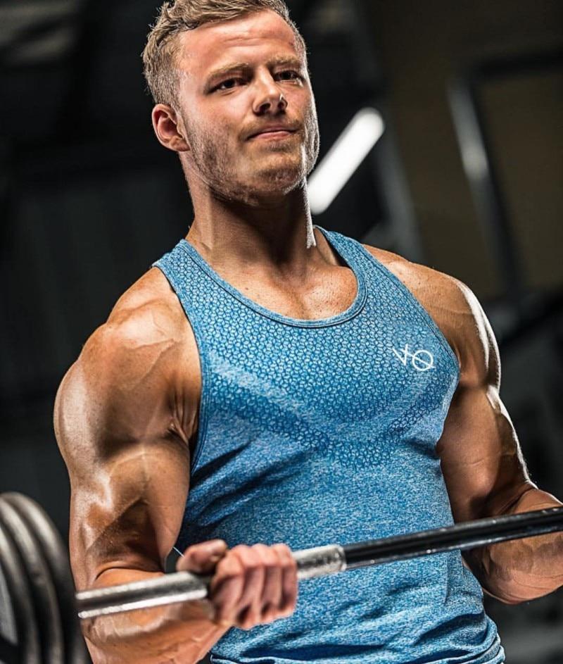 2019 summer brand clothing Mens   Tank     Tops   Stringer Bodybuilding Fitness absorb sweat breathe freely Men   Tanks   Clothes Singlets.
