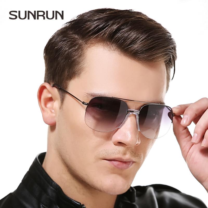 SUNRUN Frameless Alloy Driving Sun glasses Men Glasses ...