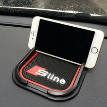 Car phone Mat GPS Support Car Accessories Mobile Phone Anti Slip Pad For Audi sline Benz Amg BMW M Car styling