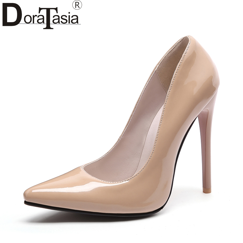 DoraTasia Brand new customized large size 34-48 pointed toe women shoes sexy thin high heels office lady party wedding pumps doratasia embroidery big size 33 43 pointed toe women shoes woman sexy thin high heels brand pumps party nightclub
