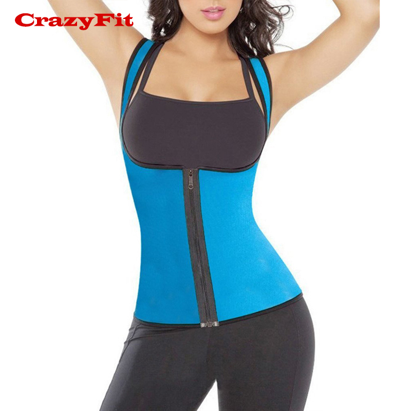 Burning Fat Yoga Top Hot Shaper Front Zipper Women For Running Fitness Workout Gym Sleeveless Female Sport Shirt T-Shirt Clothes image