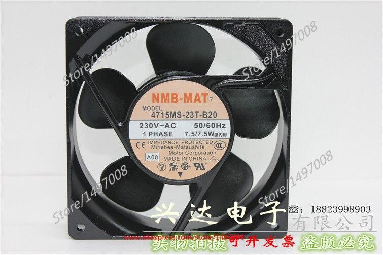 NMB-MAT 4715MS-23T-B20, A00 AC 230V 7.5W 120X120X38mm Server Square fan free shipping for nmb 4715ms 23t b30 a00 ac 230v 12 11w 2 pin 120x120x38mm server square cooling fan