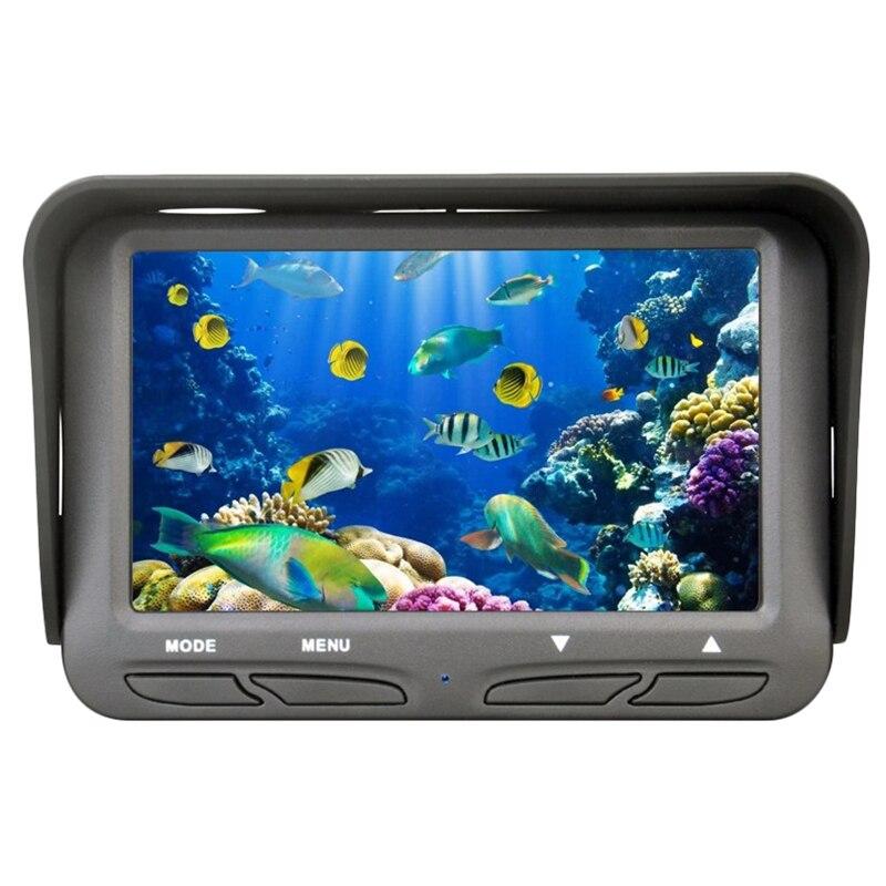 Камера для подводной подледной рыбалки 4,3 дюймов ЖК монитор 6 светодиодов 720P камера ночного видения 30 м кабельный рыболокатор Ff118 (США)