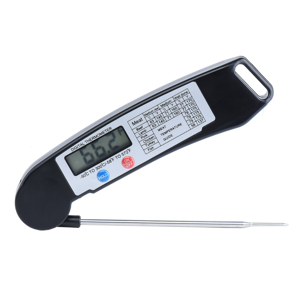 Digital Food Thermometer For Kitchen Cooking BBQ Digital Probe Meat FoldableTurkey Food Thermometer