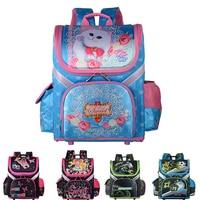 2019 New Bag For School Children School Backpack Boys Girls Orthopedic 3D Animal Cat Kids School Bags Boy Cartoon Knapsack