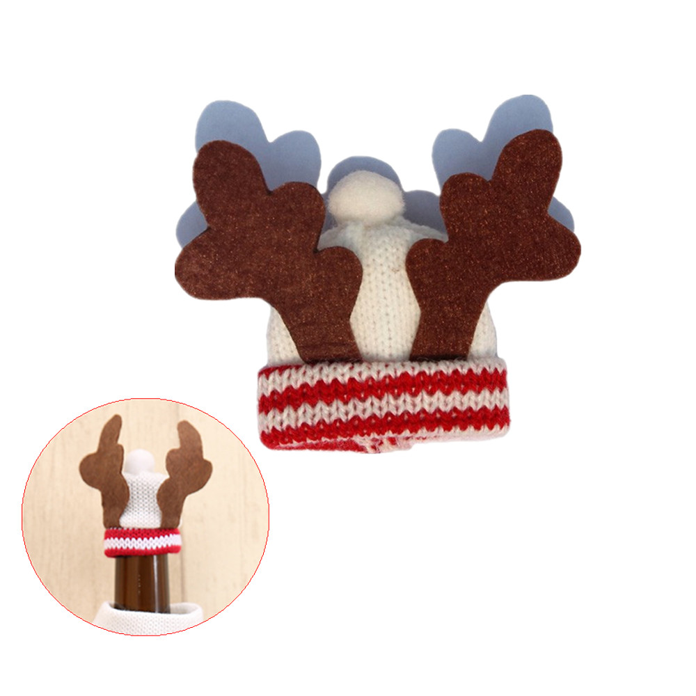 Home & Garden 5pcs/lot Santa Hat Bottle Cover Tophat Christmas Elk Deer Hats Bottle Cap Sets Christmas Party Table Party Decoration 40%off Careful Calculation And Strict Budgeting