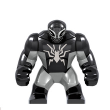 цена на Super Heroes Marvel Avengers Dark Spider Man Captain America iron man Thanos Hulk Building Blocks Figures Toys for kids
