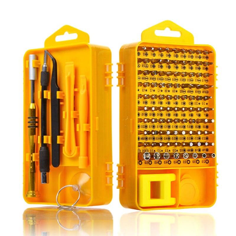Juego de Destornilladores 108 en 1 Sets de Múltiples funciones Herramientas de Reparación de Computadoras Esenciales Herramientas de Reparación de Teléfonos Móviles Conjuntos de Mano Digital Bits